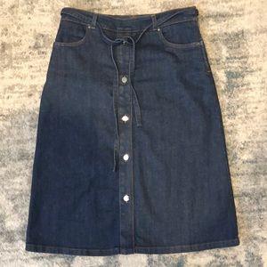 Karen Millen Midi Button Down Jean Skirt
